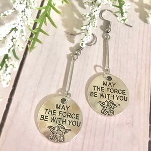 May The Force Be With You Yoda Earrings